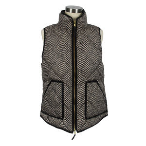 J. Crew Herringbone Excursion Down Puffer Vest